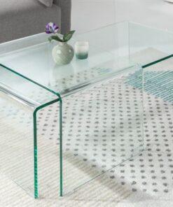 LuxD Set 2 sklenených konferenčných stolíkov Phantom